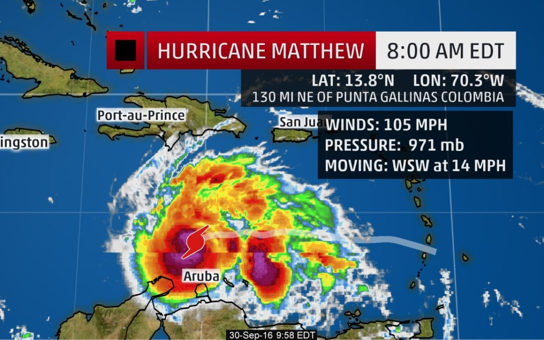 Hurricane Matthew Grows Even Stronger; Jamaica, Hispañola, Cuba, Bahamas Threat