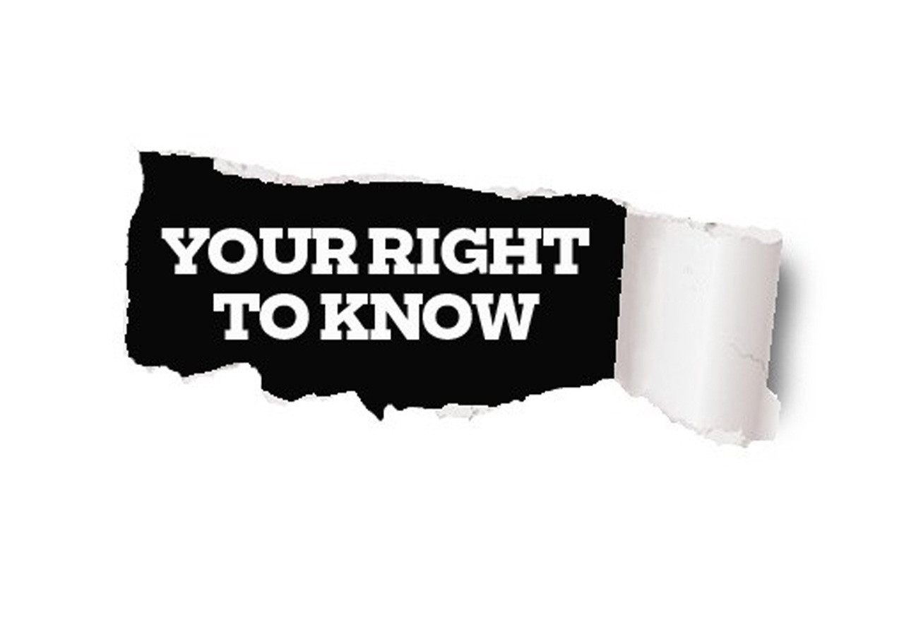 your right to know - HD1200×832